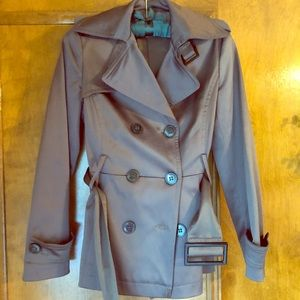 Zara brown taupe belted trench coat jacket s xs